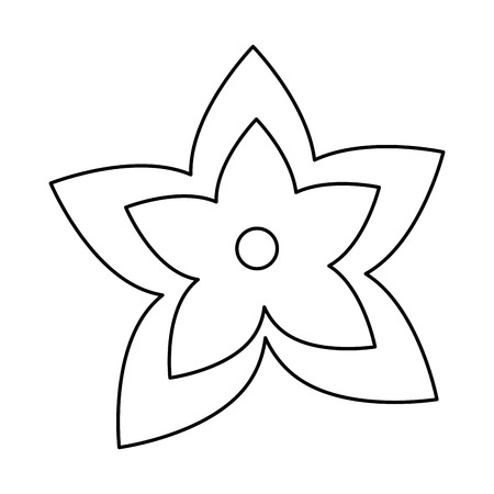 exotic and tropical flower vector illustration design  イラスト・ベクター素材