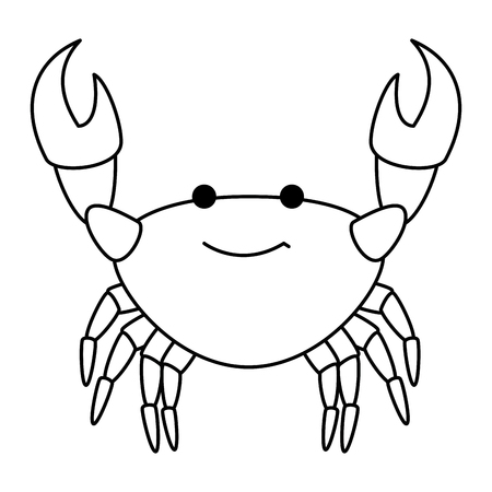 crab sea isolated icon vector illustration design