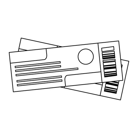 ticket flight isolated icons vector illustration design Standard-Bild - 105739047