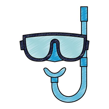 snorkel mask isolated icon vector illustration design Illustration