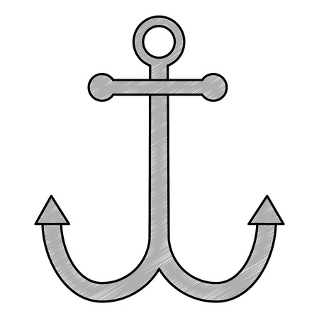 anchor metal isolated icon vector illustration design