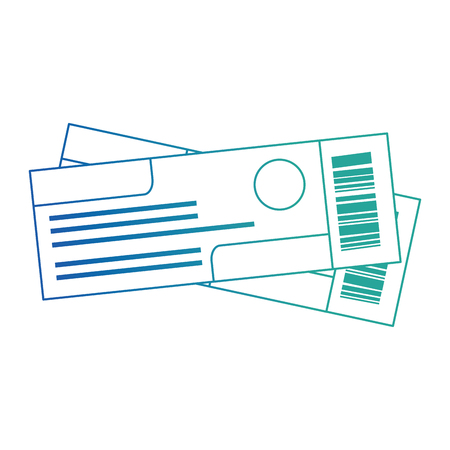 ticket flight isolated icons vector illustration design