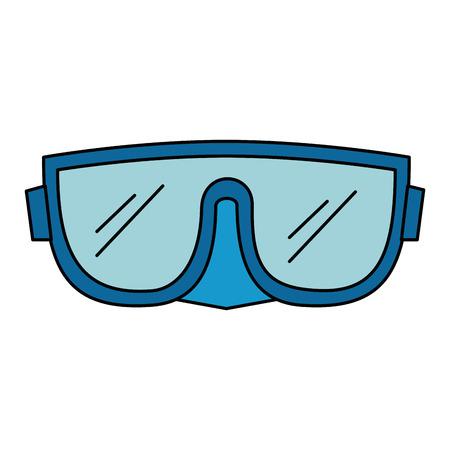 snorkel goggles isolated icon vector illustration design