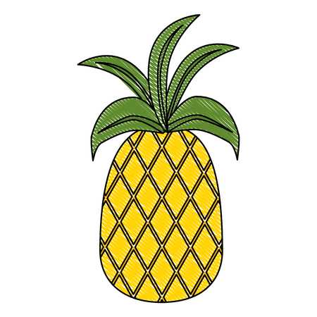 fresh pineapple fruit icon vector illustration design