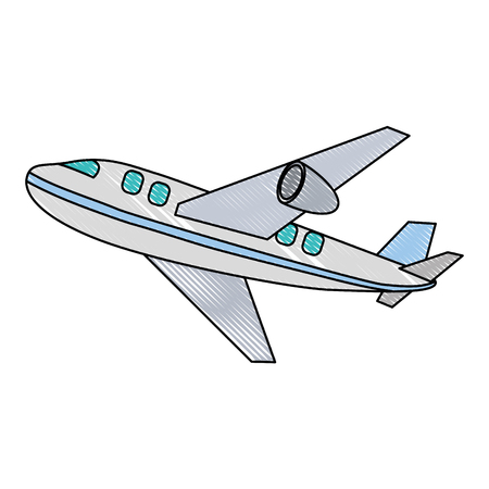 airplane flying isolated icon vector illustration design 写真素材 - 112282659