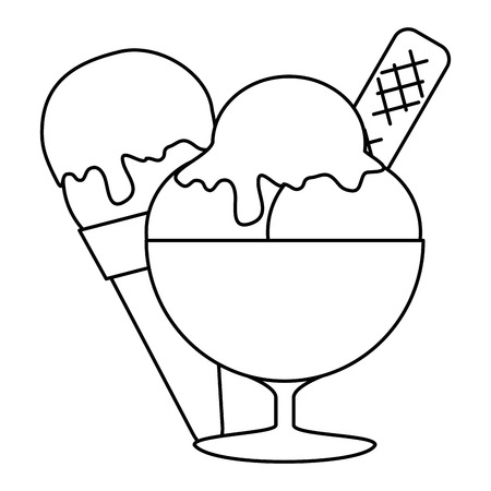 ice cream cup isolated icon vector illustration design Banque d'images - 105741241
