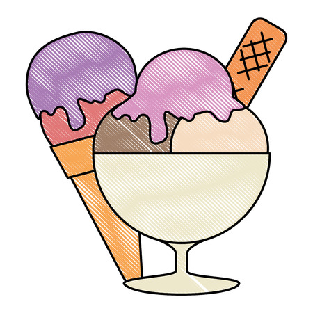 ice cream cup isolated icon vector illustration design Banque d'images - 112282679