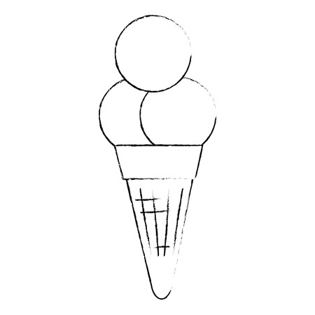 ice cream cone isolated icon vector illustration design Imagens - 112282685
