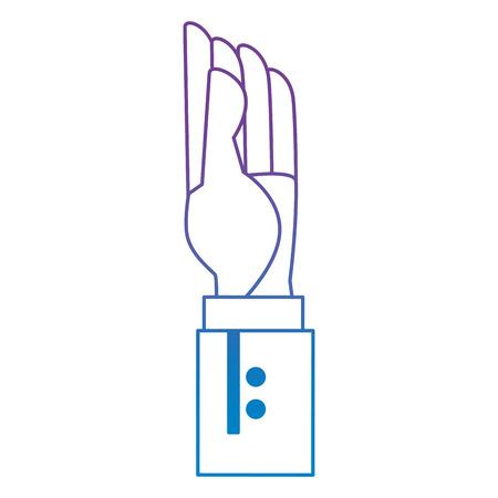 hand human up icon vector illustration design
