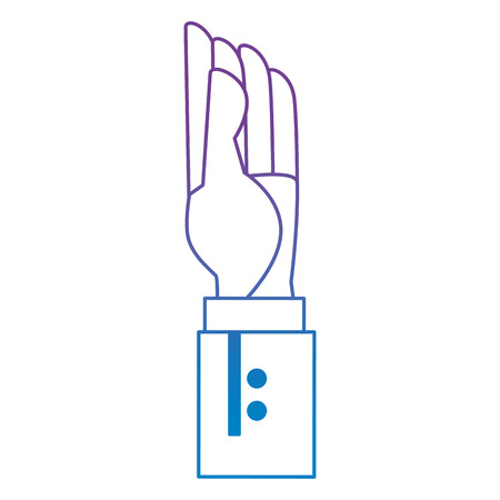 hand human up icon vector illustration design