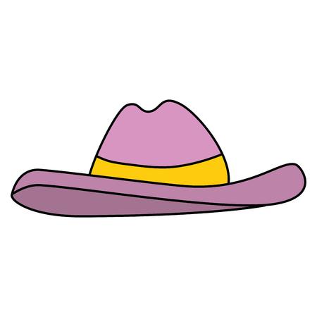 hat summer accessory icon vector illustration design