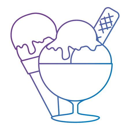 ice cream cup isolated icon vector illustration design Banque d'images - 105758032