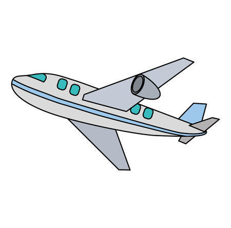 airplane flying isolated icon vector illustration design Vector Illustration