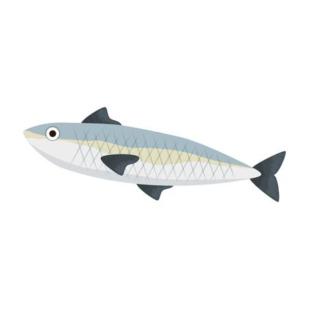 fresh salmon fish food vector illustration design