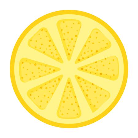 fresh lemon citrus fruit vector illustration design