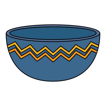 progettazione vuota dell'illustrazione di vettore dell'icona della ciotola della cucina Vettoriali
