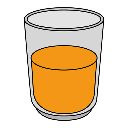 orange juice fruit glass vector illustration design