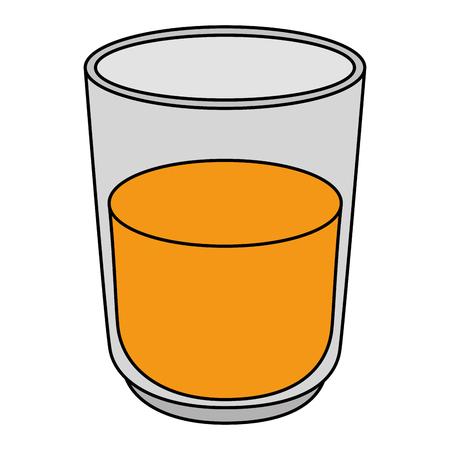 orange juice fruit glass vector illustration design