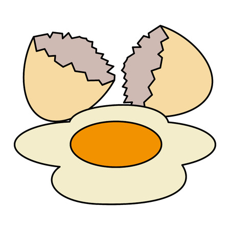 egg cracked isolated icon vector illustration design