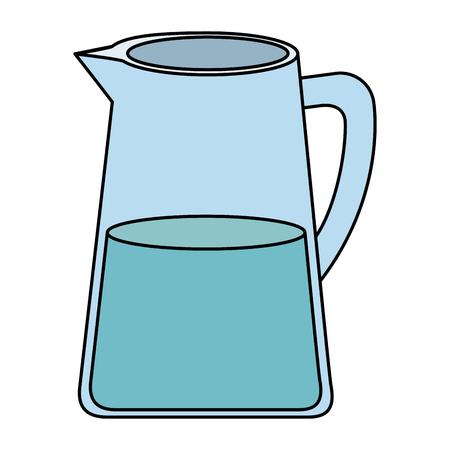vaso di acqua isolato icona illustrazione vettoriale design