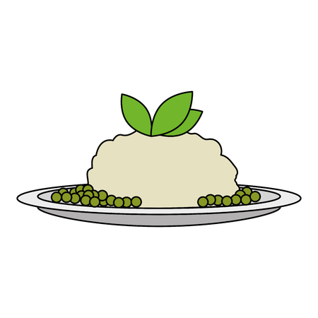 dish with mashed potatoes vector illustration design 일러스트