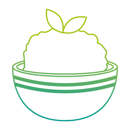 kitchen bowl with mashed potatoes vector illustration design Standard-Bild - 112283200
