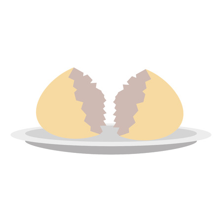 shell egg cracked isolated icon vector illustration design Ilustracja