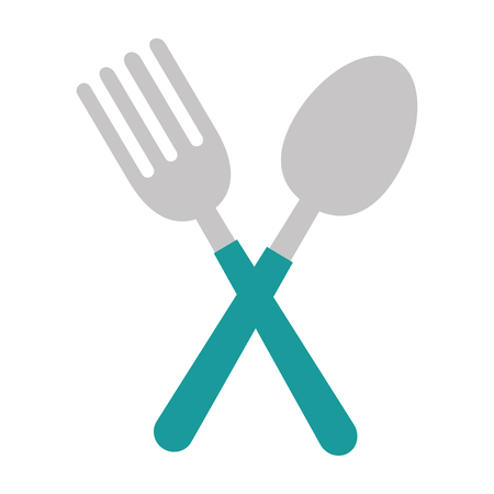 fork and spoon cutlery vector illustration design