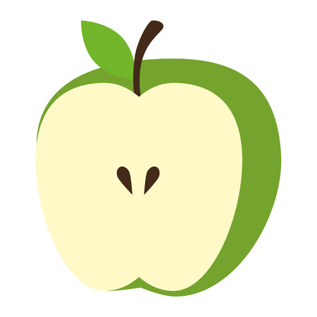 apple fresh fruit healthy vector illustration design