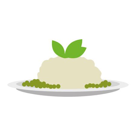 dish with mashed potatoes vector illustration design  イラスト・ベクター素材