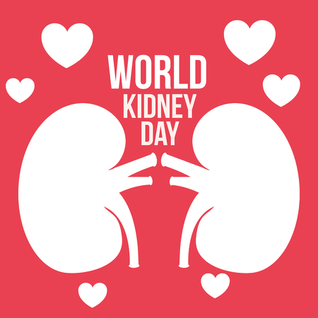 world kidney day campaign love wellness vector illustration