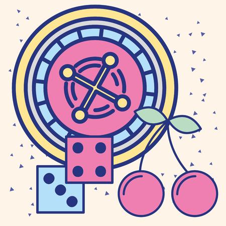 casino roulette craps game fortune vector illustration