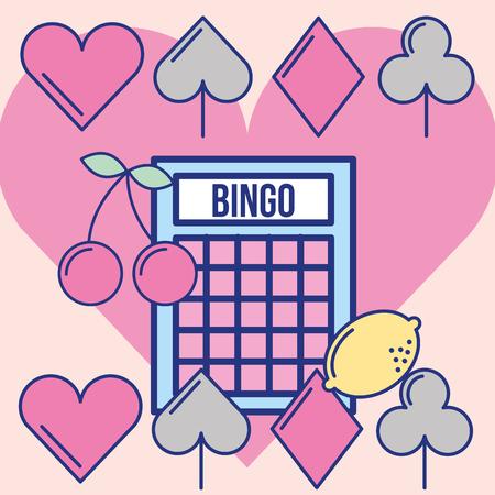 casino bingo game luck leisure vector illustration  イラスト・ベクター素材