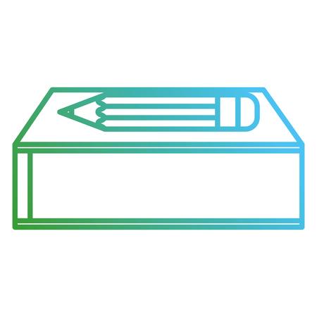 text book school with pencil vector illustration design