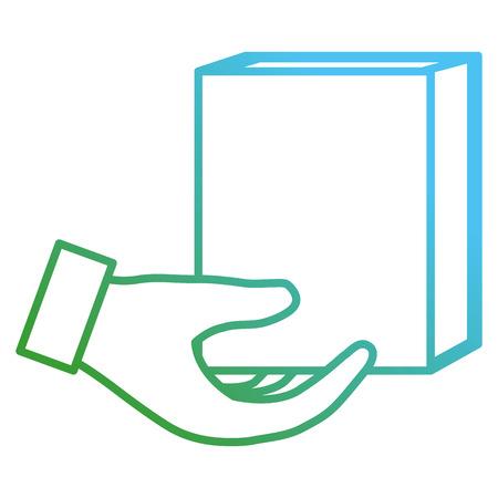 hands with text book school vector illustration design