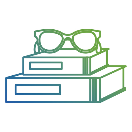 text books school with glasses vector illustration design Banque d'images - 112065206