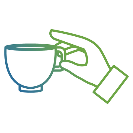 hand with coffee cup vector illustration design  イラスト・ベクター素材