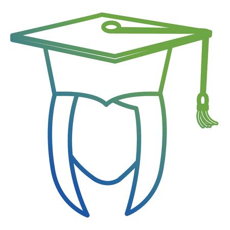 head woman student graduation with uniform vector illustration design Illustration