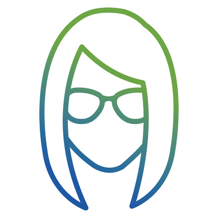 young woman with glasses character vector illustration design