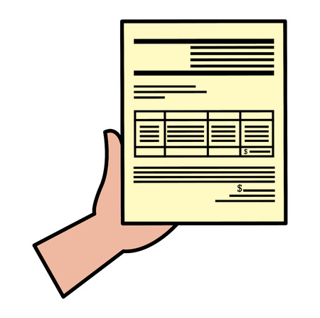 hands with paper document vector illustration design