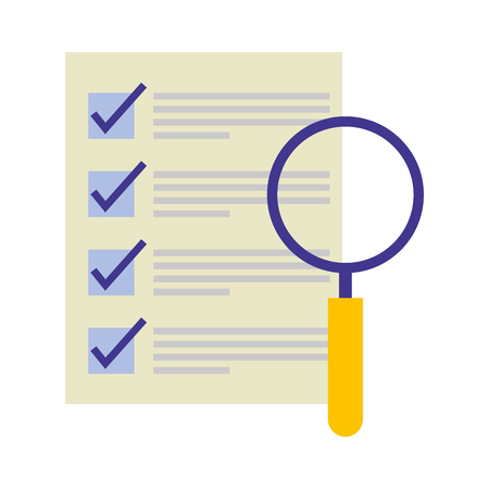 document file with magnifying glass isolated icon vector illustration design Stockfoto - 112066834