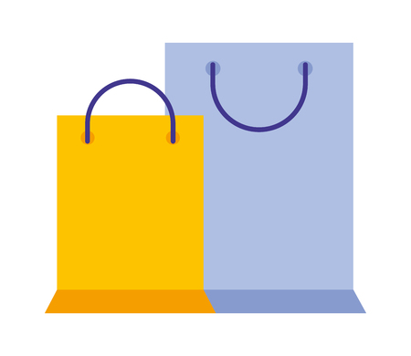 shopping bags commercial icon vector illustration design
