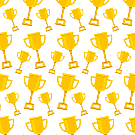 trophy award cup icon pattern vector illustration design