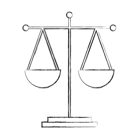 scale justice legal balance symbol vector illustration hand drawing