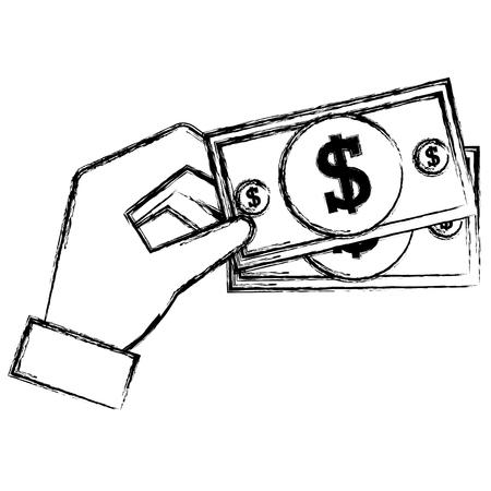 hand with bills money vector illustration design 스톡 콘텐츠 - 106217559