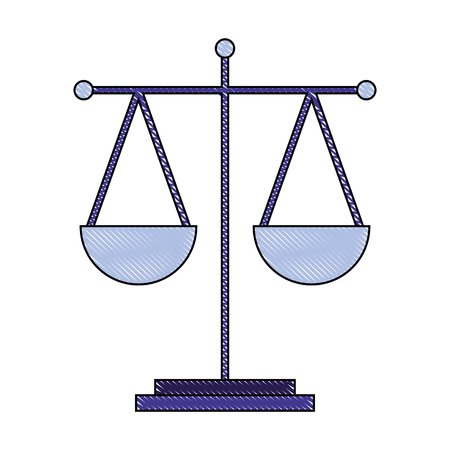 scale justice legal balance symbol vector illustration