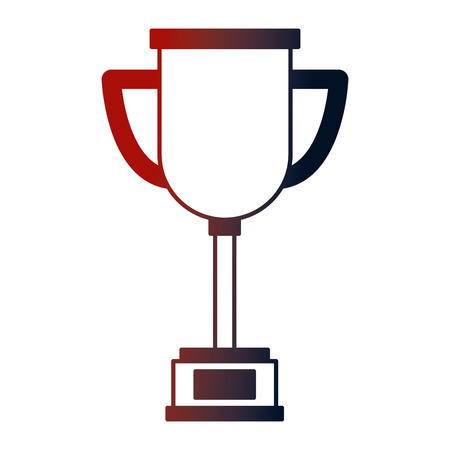 trophy award cup isolated icon vector illustration design