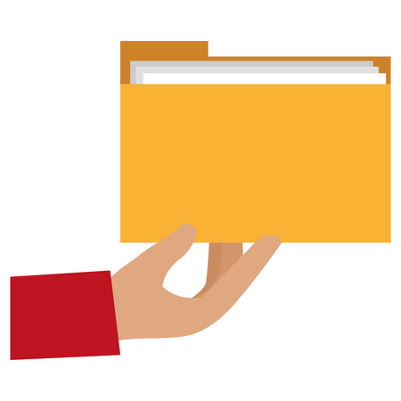 hand with file folder vector illustration design Imagens - 112067163