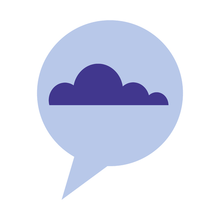 speech bubble with cloud isolated icon vector illustration design