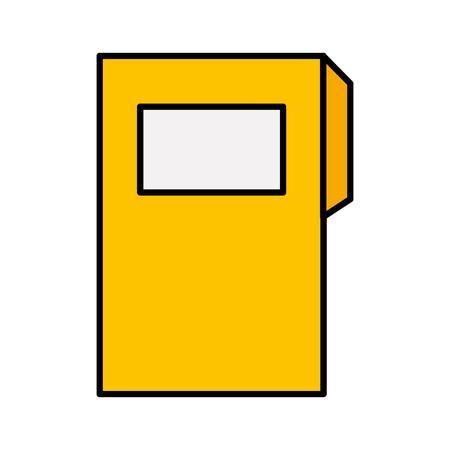 folder document isolated icon vector illustration design Illusztráció